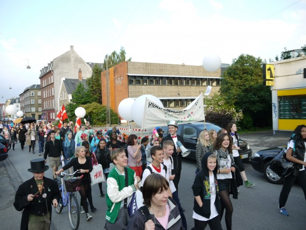 Parade through the neighbourhood