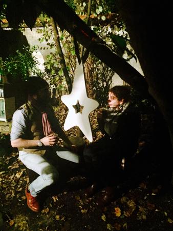 14. Dec: Jim Haynes, Jim's jardin à chez Jim dans Paris, France -